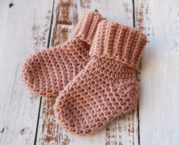 Crochet baby socks