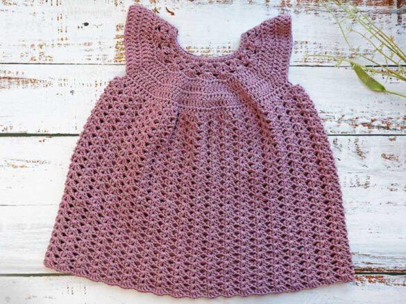 Iris crochet baby dress
