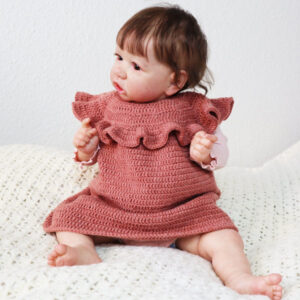 Ruffles Crochet Baby-Dress