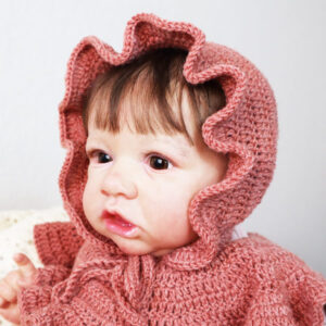 ruffles crochet baby bonnet
