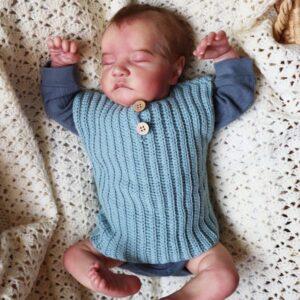 Rib Crochet Baby Vest