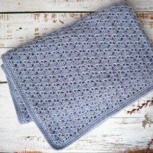 Crochet Fanstitch baby blanket