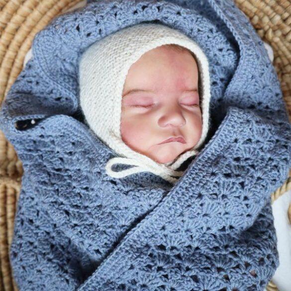 crochet fan Stitch Baby Blanket
