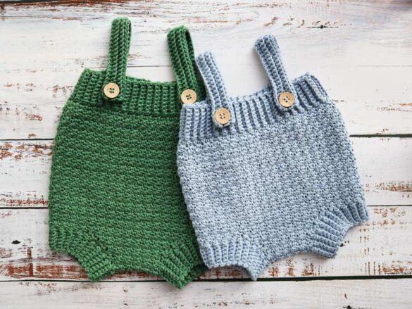 Lemon Peel Crochet baby romper