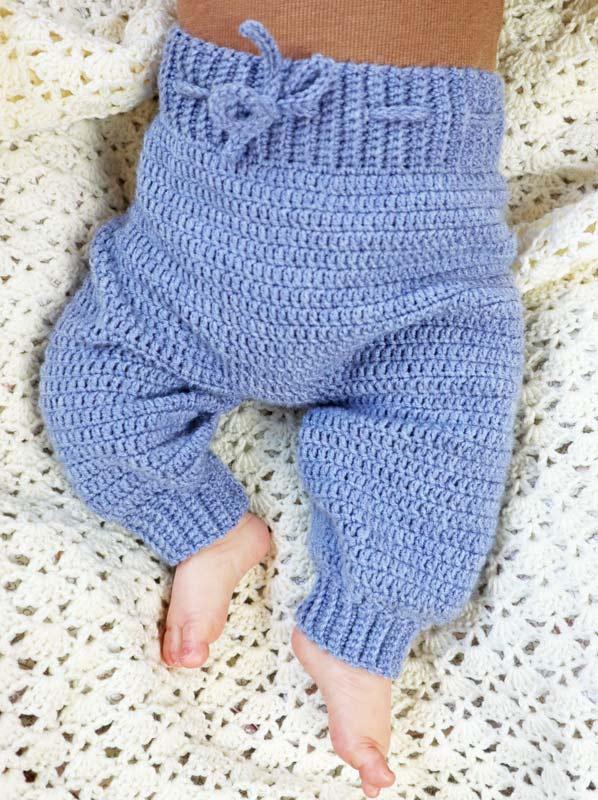 Hæklede Baby Bukser