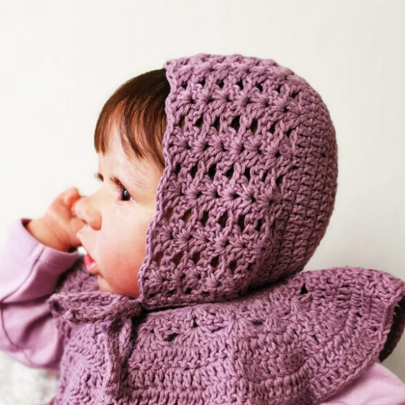 Iris Crochet Baby Bonnet
