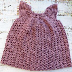 Iris Crochet Baby Dress Size 3-18 Months